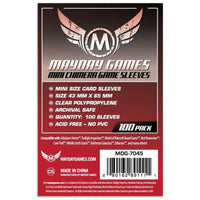 Mayday Mini Chimera Game Sleeves Pack of 100 43 MM X 65 MM Red