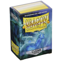Dragon Shield Standard 100ct Clear MATTE 63x88mm Sleeves