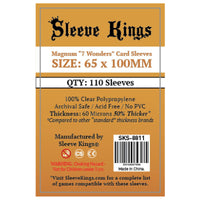 Sleeve Kings Board Game Sleeves Magnum 7 Wonders 65mm x 100mm 110ct
