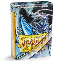 Dragon Shield Japanese 60ct Clear MATTE 59x86mm Sleeves
