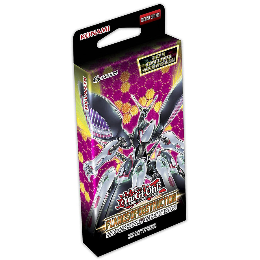 YUGIOH! TCG Flames of Destruction Special Edition Deck w/ 3 booster packs