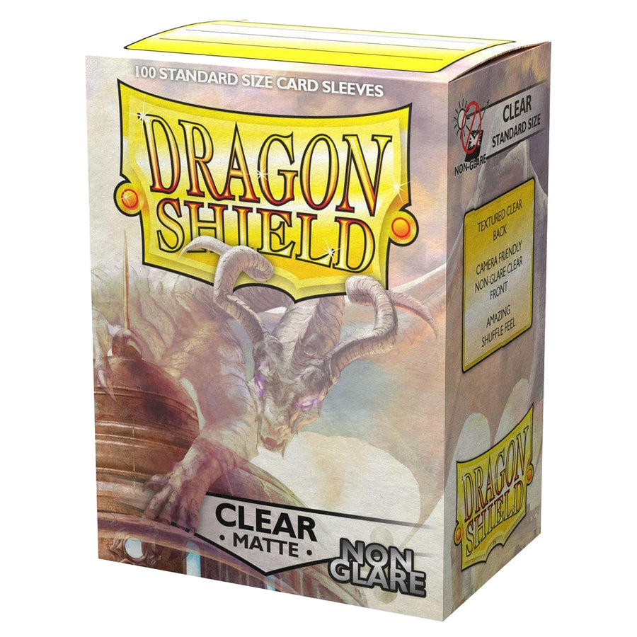 Dragon Shield Standard Non Glare 100ct Clear MATTE 63x88mm Sleeves
