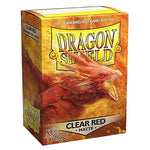 Dragon Shield Standard 100ct Clear Red MATTE 63x88mm Sleeves