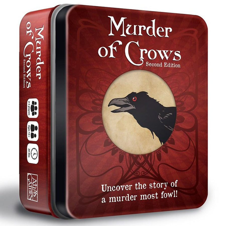 Murder of Crows 2nd Edition Tin box Tarot size cards Card Game