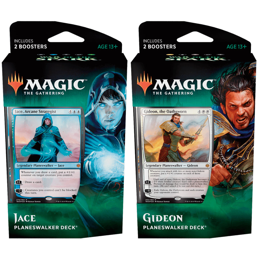 Magic the Gathering War of the Spark Planeswalker Pair of Decks