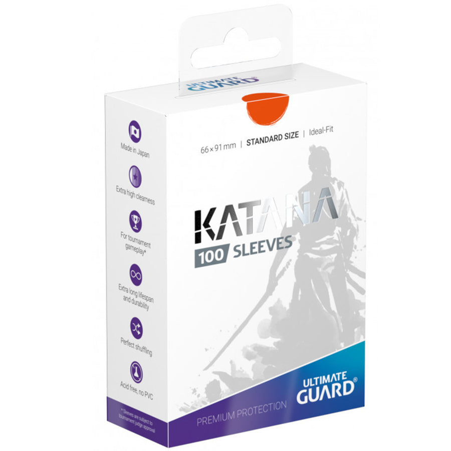 Ultimate Guard Katana Standard Size Sleeves 66 x 91mm Orange 100ct