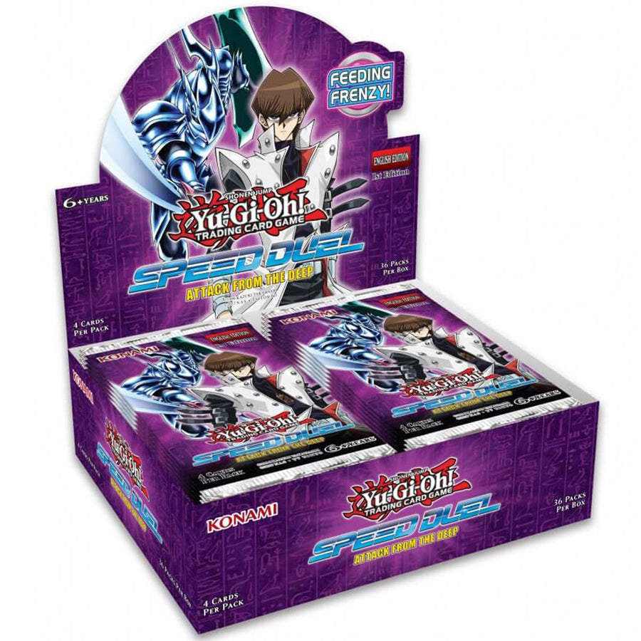 YUGIOH TCG Attack from the Deep Speed Duel Booster Box W/ 36 Booster Packs