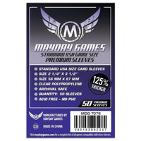Mayday Premium USA Board Game Sleeves 50ct 56 X 87 mm Purple Ticket to Ride