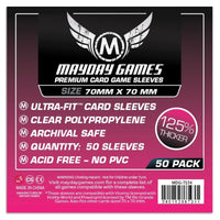 Mayday Premium Small Square Card Sleeves Pack of 50 - 70 X 70 MM Power Grid