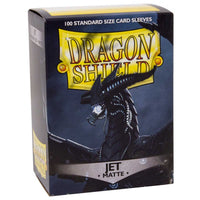 Dragon Shield Standard 100ct Jet MATTE 63x88mm Sleeves