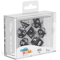 Oakie Doakie Dice RPG Set Solid Black 7pc