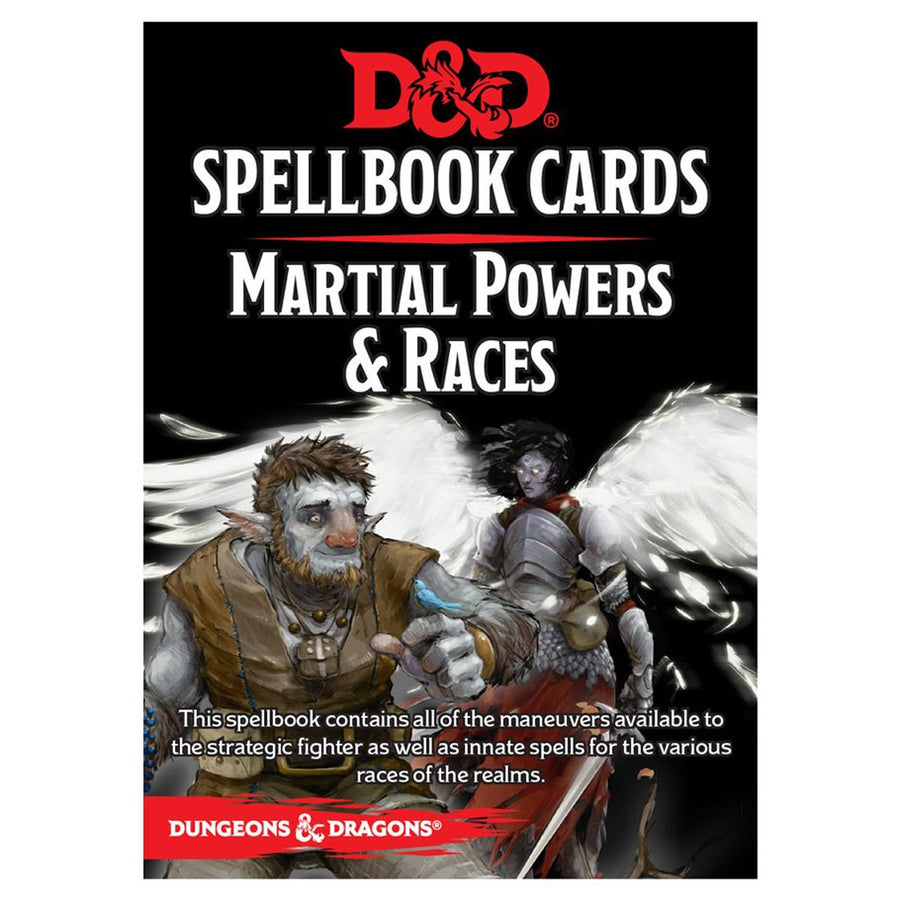 D&D Spellbook Cards Martial Deck Revised 2017 Edition Board Game