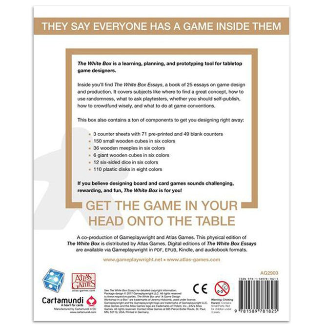 The White Box A Game Design Workshop In A Box Board Game Gameology - Board game design document