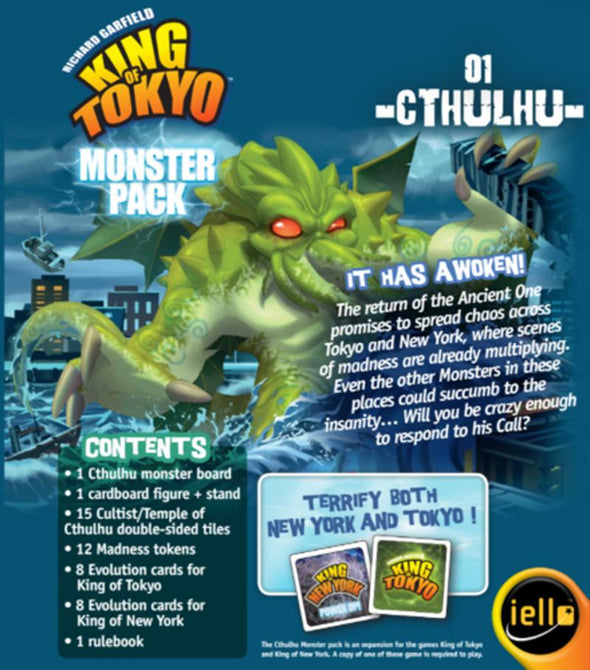 King Of New York Scene: King Of Tokyo: Cthulhu Monster Pack
