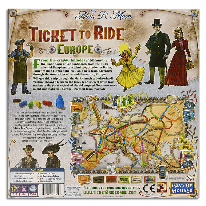 Ticket To Ride Europe Edition