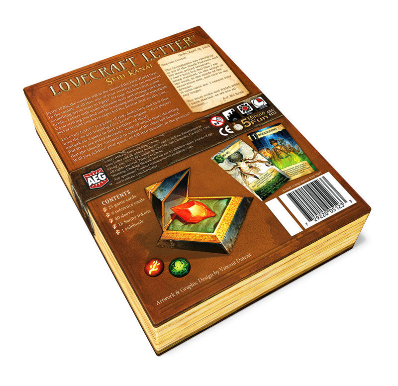 love letter lovecraft  board game  gameology