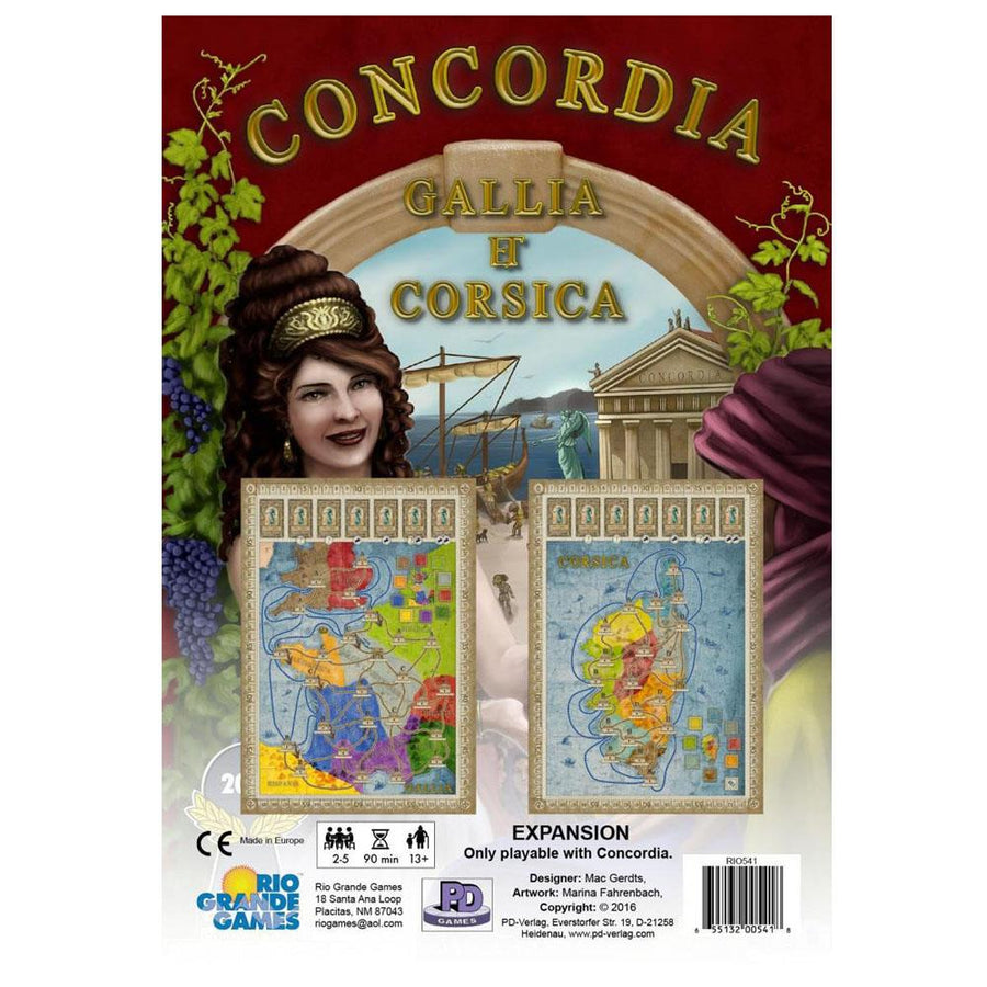 Concordia Gallia/Corsica Expansion Board Game