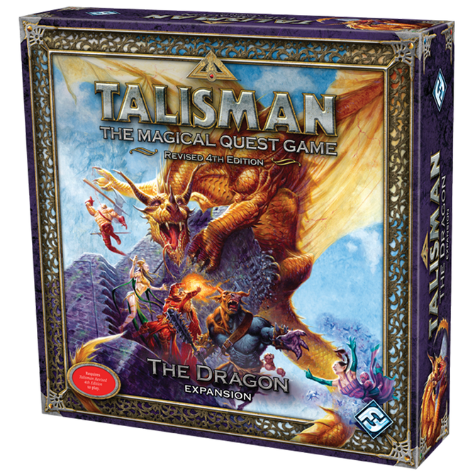 Talisman board game (revised 4th edition) the dragon expansion.