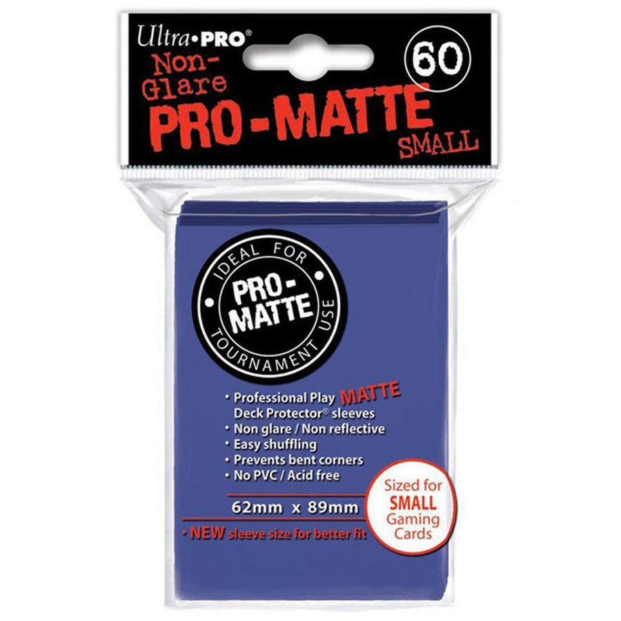 ULTRA PRO Deck Protector Sleeves Pro Matte Non-Glare Blue Small 60ct 62 x 89 mm