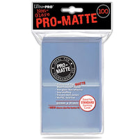 ULTRA PRO Deck Protector Sleeves Pro Matte Non-Glare Clear Standard 100ct 66 x 91