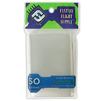 Fantasy Flight Games Standard American Board Game Sleeves Clear 57 x 89mm 50ct
