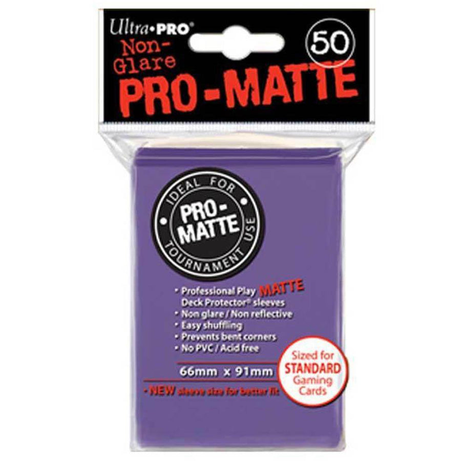 ULTRA PRO Deck Protector Sleeves Pro Matte Purple Standard 50ct 66 x 91 mm
