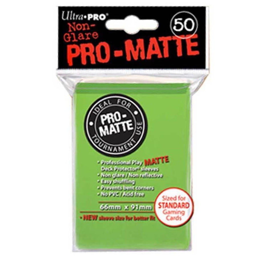 ULTRA PRO Deck Protector Sleeves Pro Matte Lime Green Standard 50ct 66 x 91 mm
