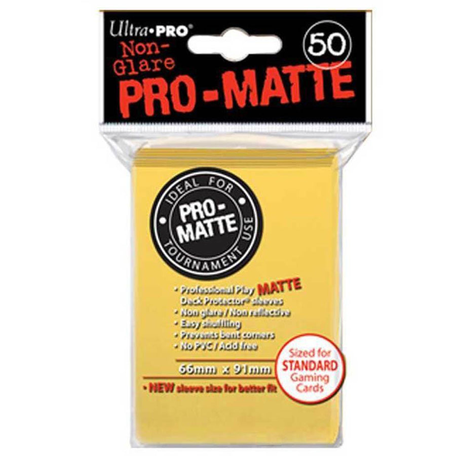 ULTRA PRO Deck Protector Sleeves Pro Matte Yellow Standard 50ct 66 x 91 mm