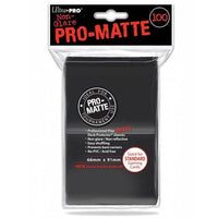ULTRA PRO Deck Protector Sleeves Pro Matte Non-Glare Black Standard 100ct 66 x 91