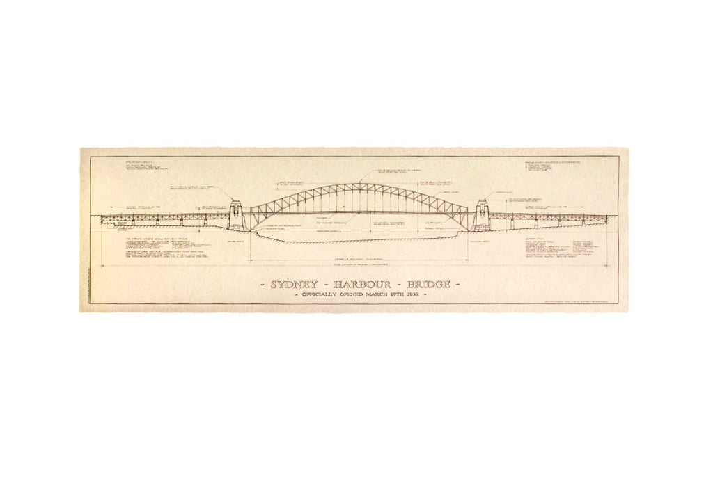 Architectural Print of Sydney Harbour Bridge
