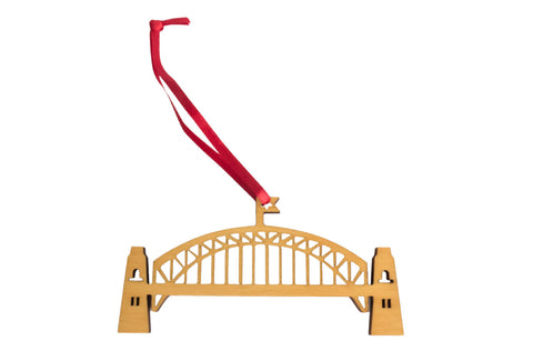 Wooden Sydney Harbour Bridge Christmas Decoration