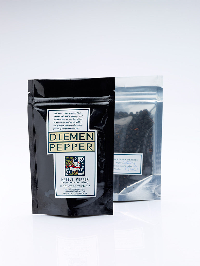 FREEZE DRIED NATIVE PEPPERBERRY FROM TASMANIA