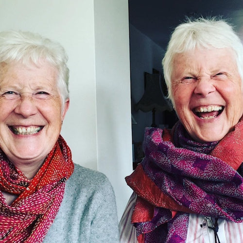 Winner of the Cashmere scarf giveaway - plus a couple of twinning photos!