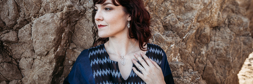 Butterfly wing jewelry collection | Alleura Atelier sterling silver artisan jewelry