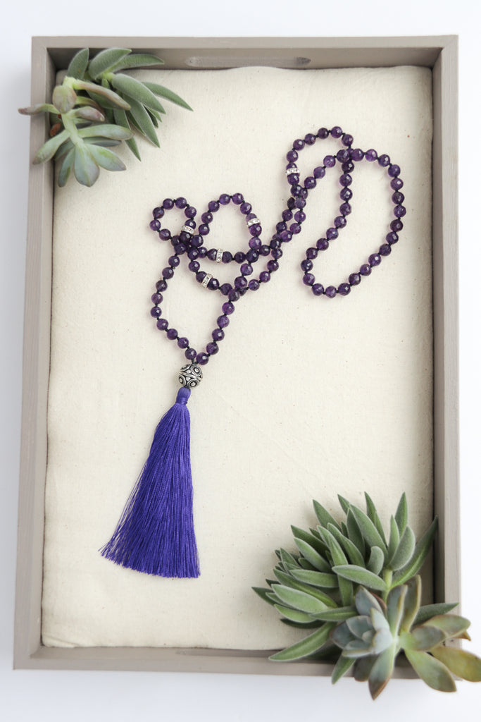 Lavinia Amethyst Tassel Necklace