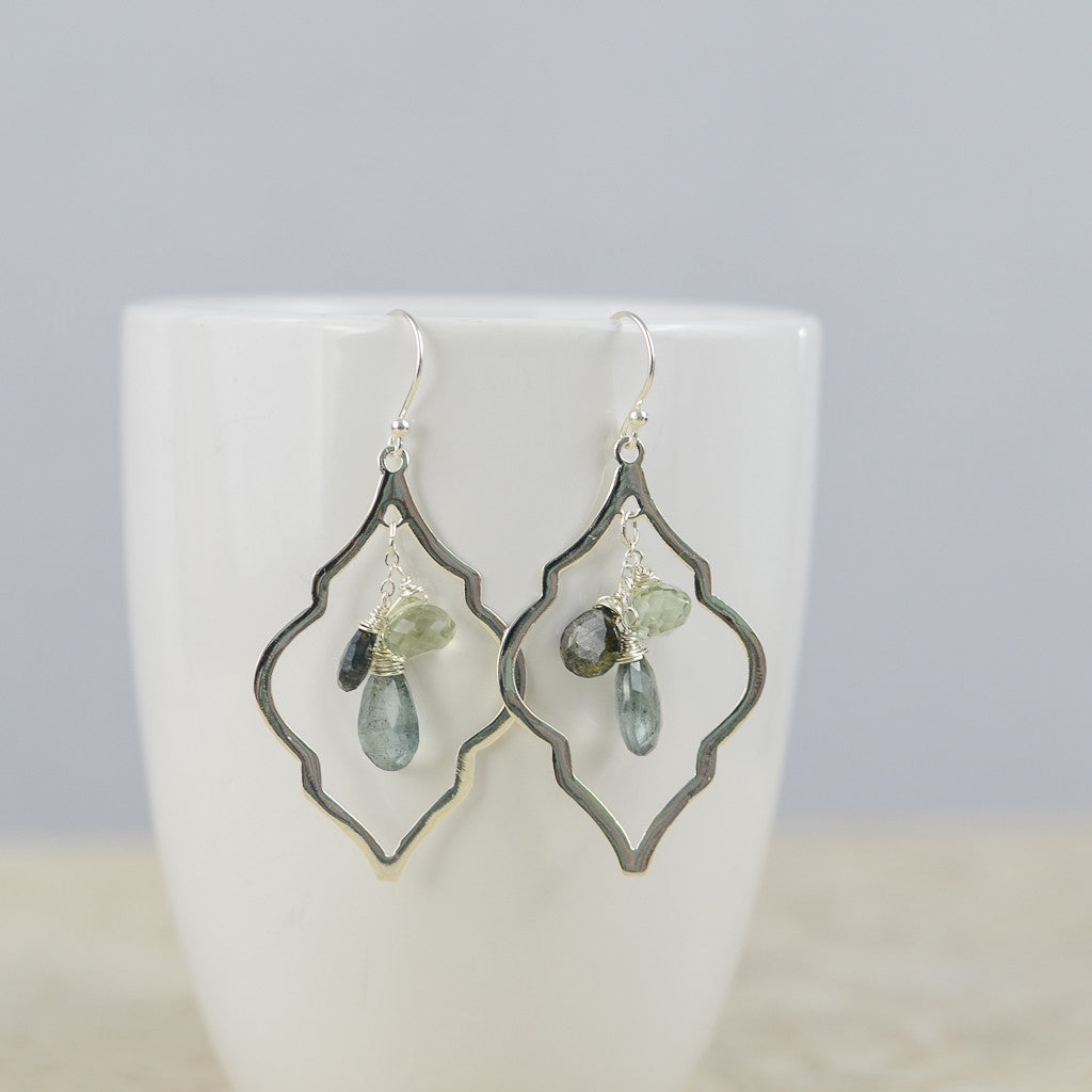 Smoky Arabesque Earrings, Earrings - Alleura Atelier