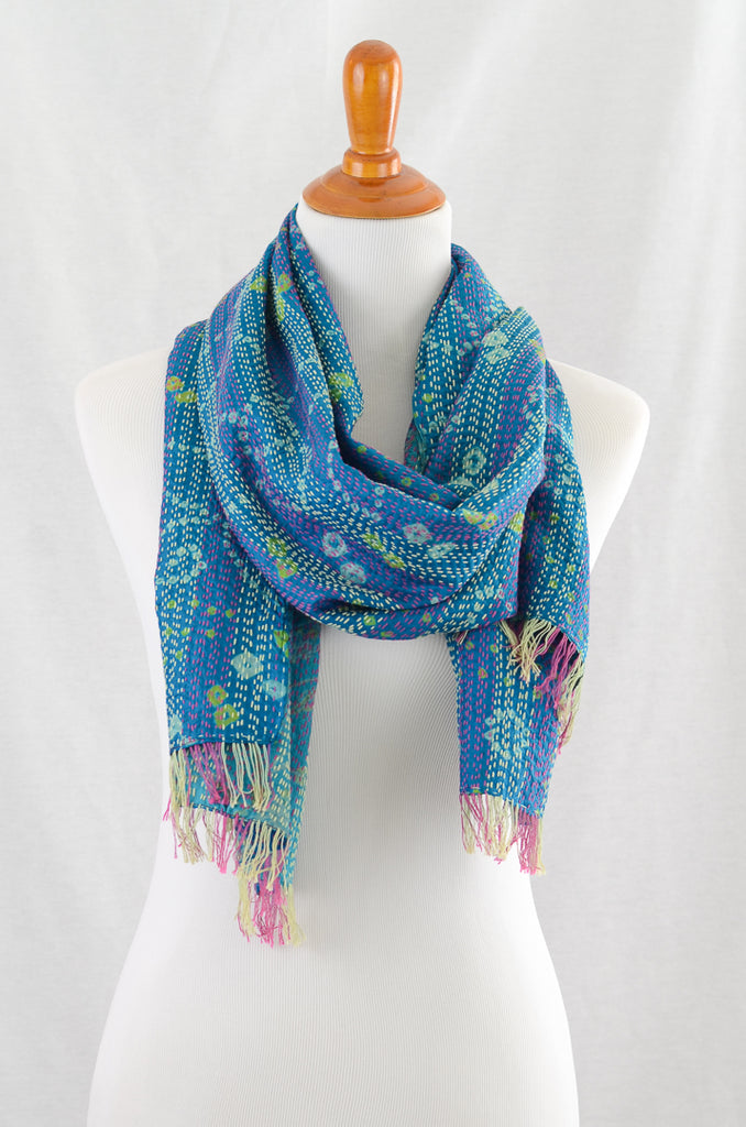 Bandhani Scarf, Accessories - Alleura Atelier