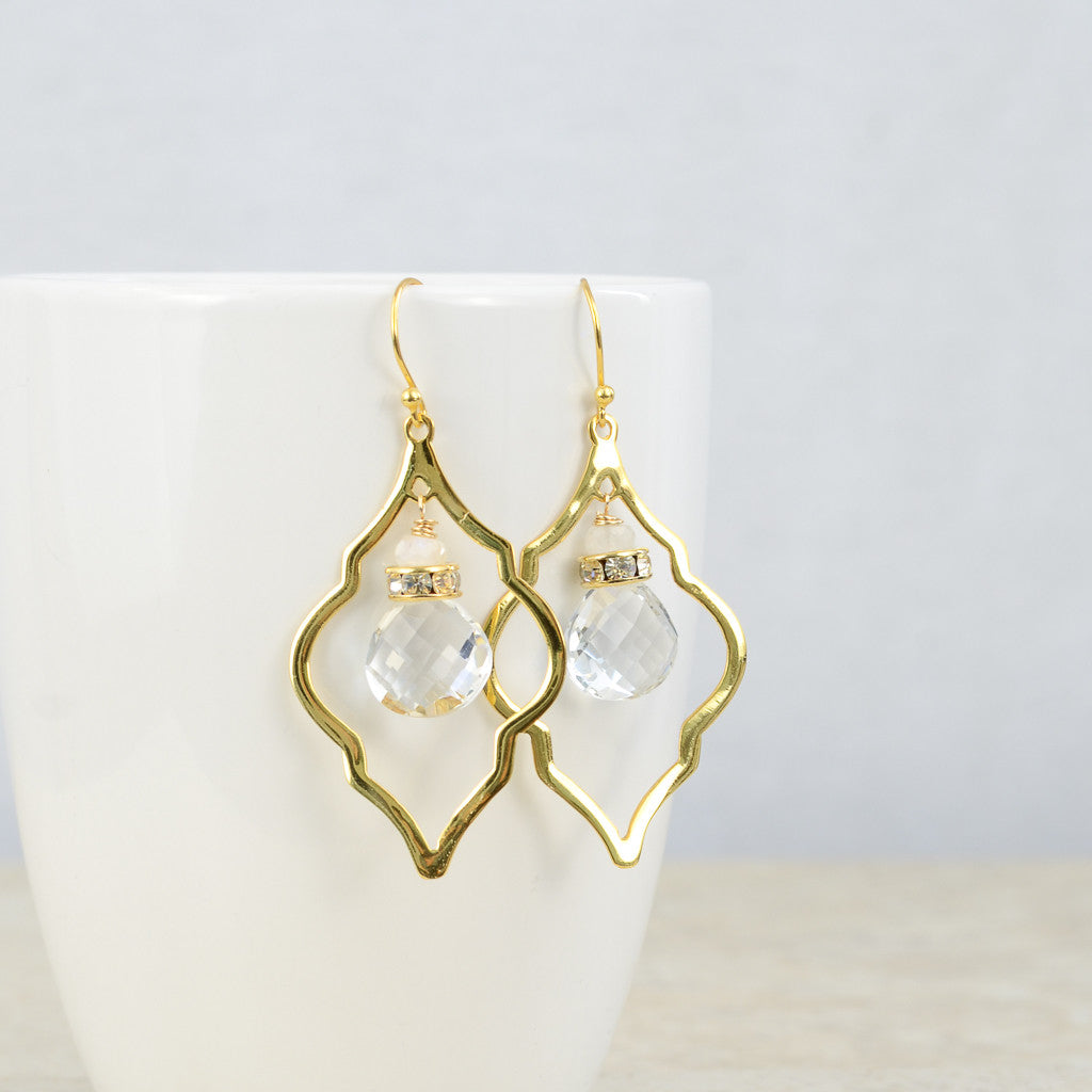 Crystal Arabesque Earrings, Earrings - Alleura Atelier