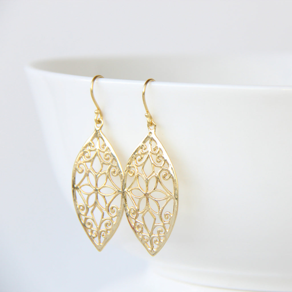 Marquise Floral Earrings, Earrings - Alleura Atelier