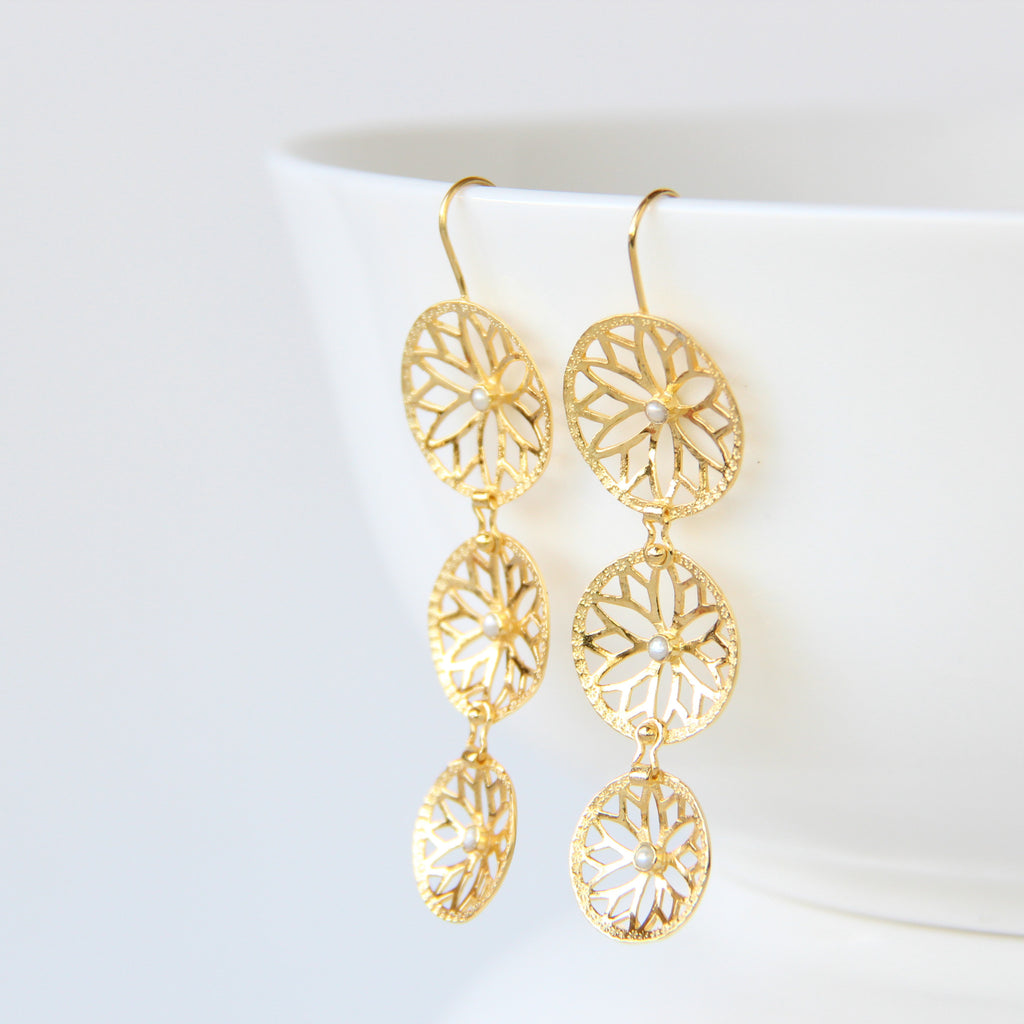 Cascade Earrings, Earrings - Alleura Atelier