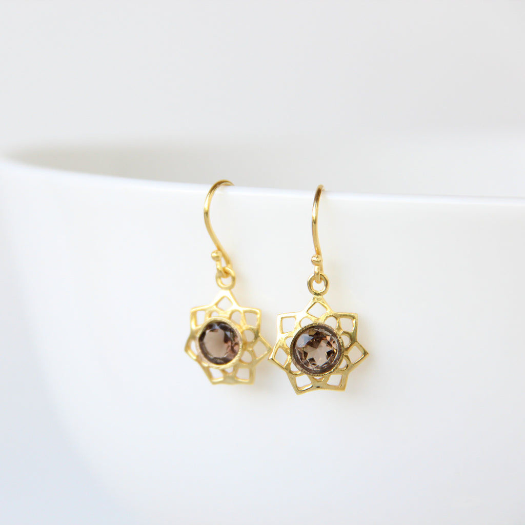 Lotus Earrings, Earrings - Alleura Atelier