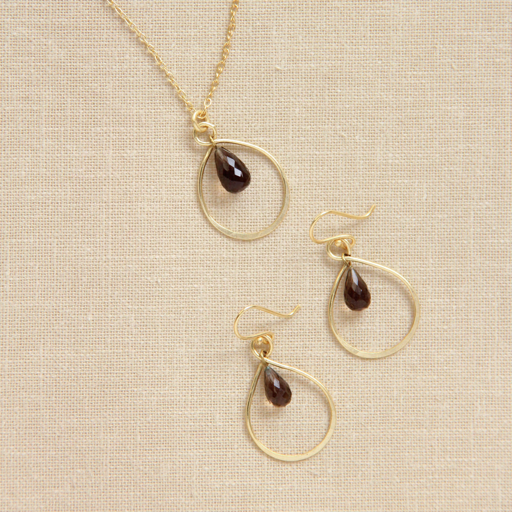 Infinity Necklace and Earrings Set, Earring Necklace Set - Alleura Atelier