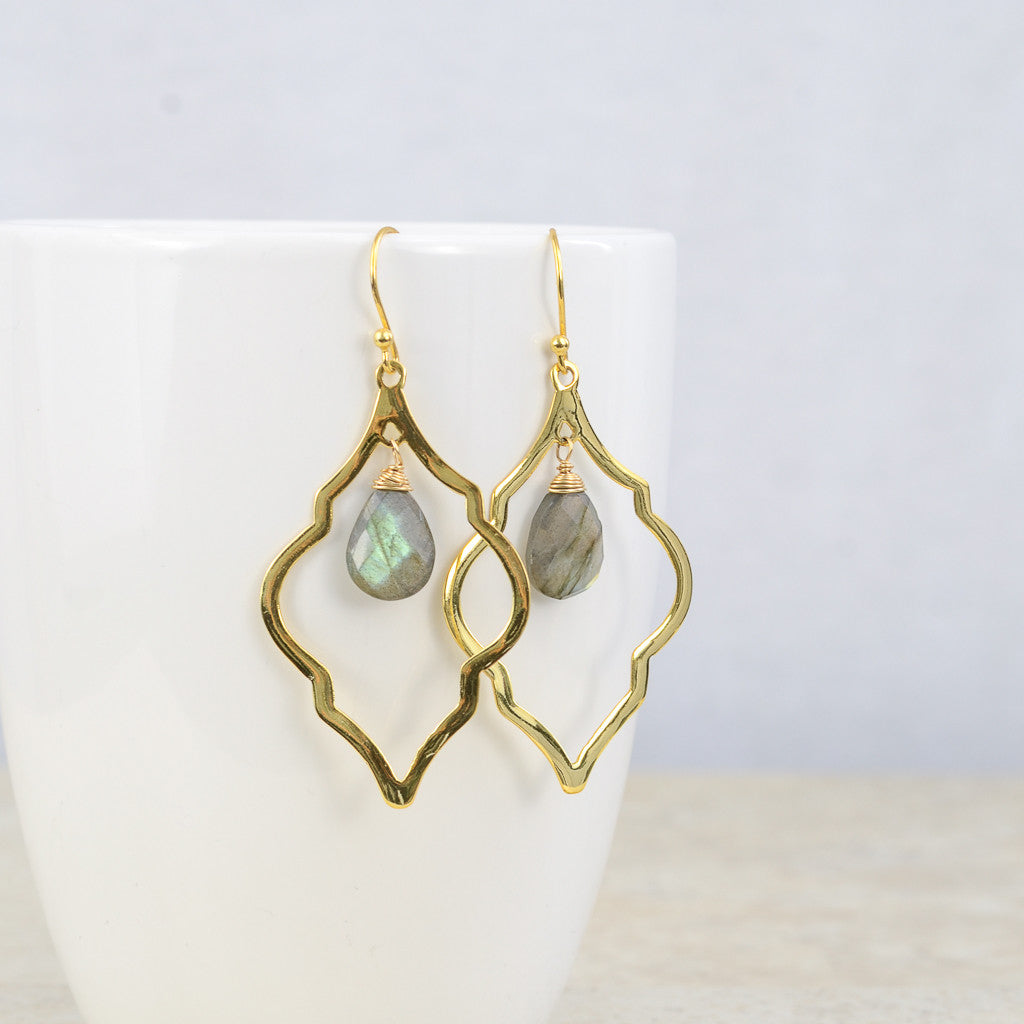 Charcoal Arabesque Earrings, Earrings - Alleura Atelier