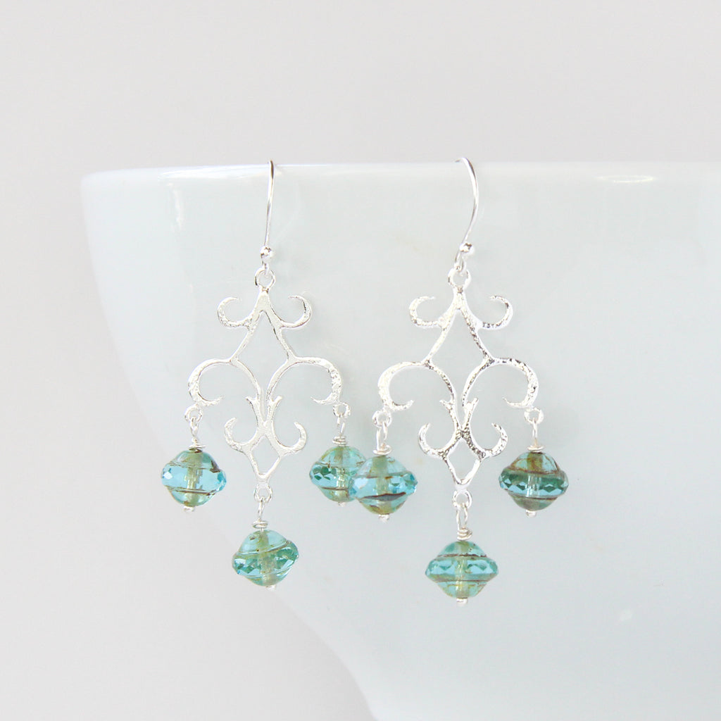 Ava Chandelier Earrings, Earrings - Alleura Atelier