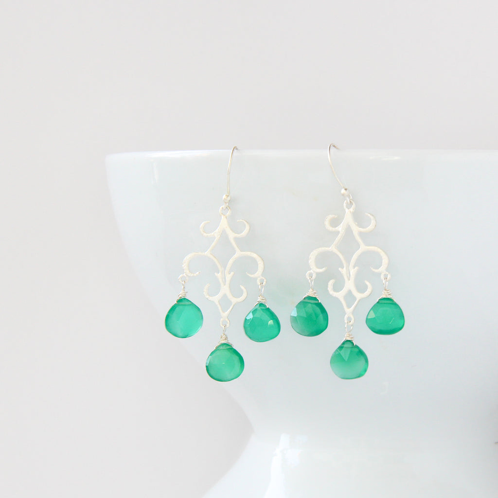 Caribbean Chandelier Earrings, Earrings - Alleura Atelier
