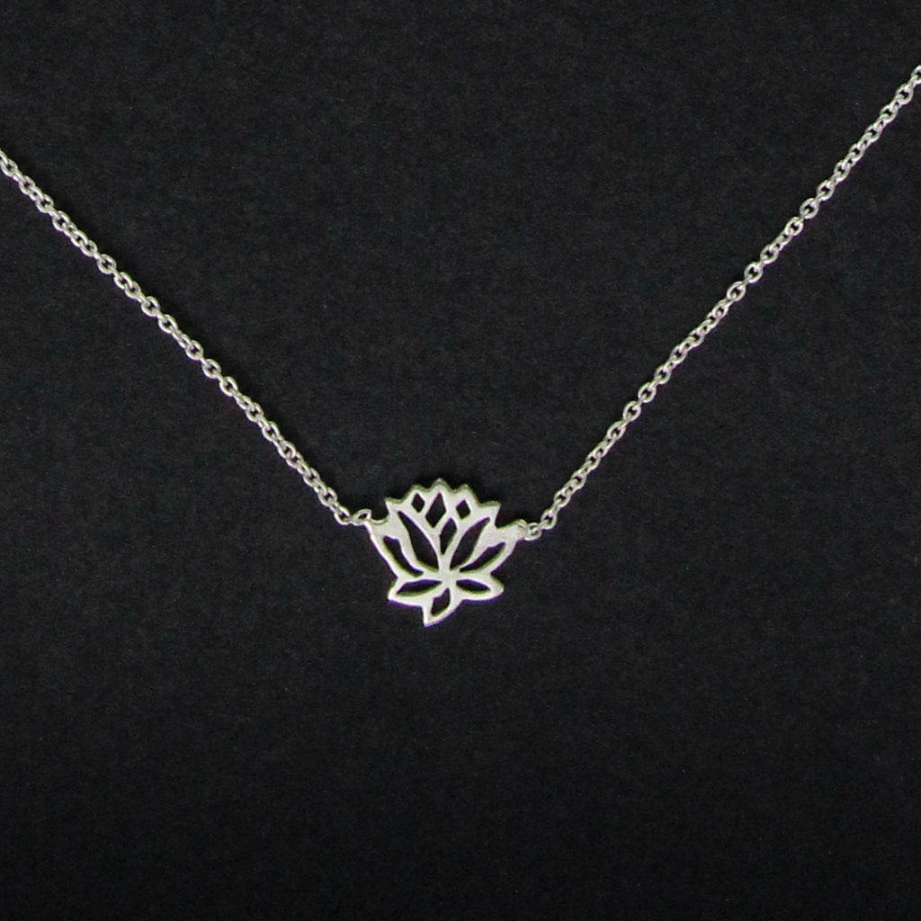 Lotus bloom pendant necklace