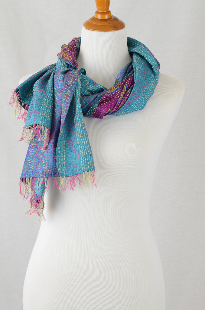 Peacock Paisley Scarf, Accessories - Alleura Atelier