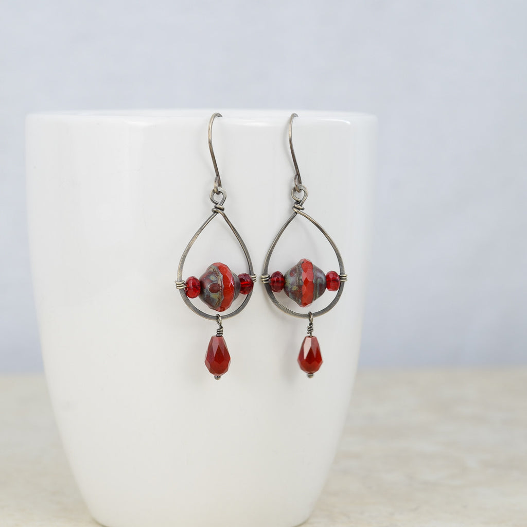 Trapeze Earrings, Earrings - Alleura Atelier