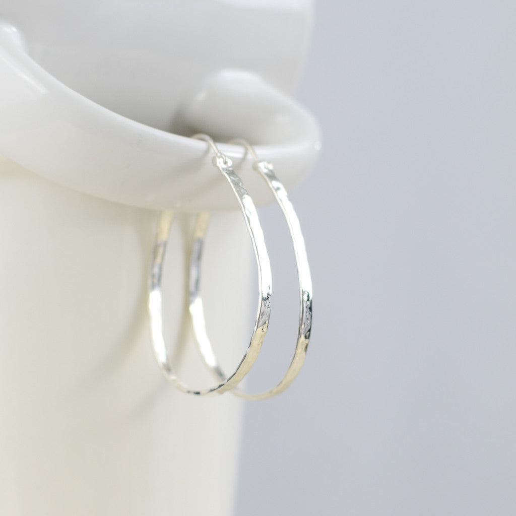 Zoe Hoops, Earrings - Alleura Atelier