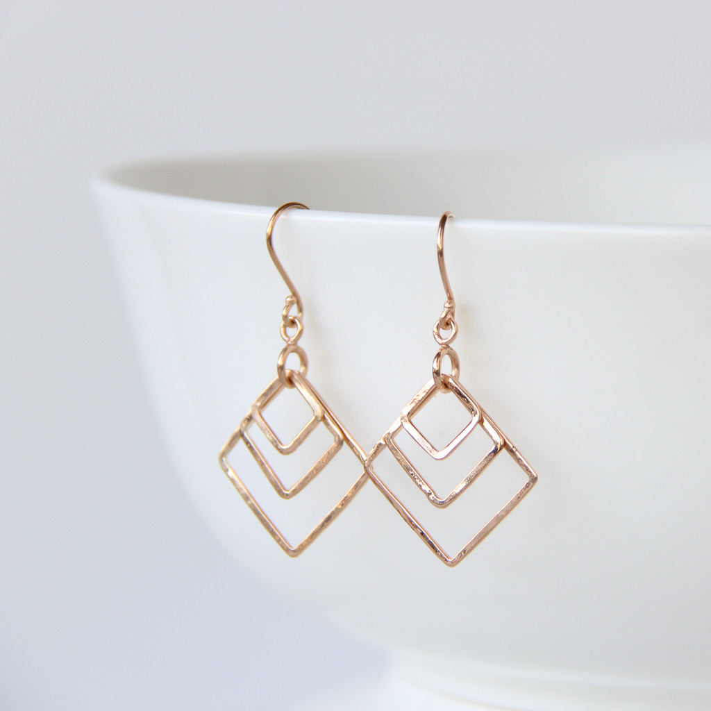 Carré Earrings, Earrings - Alleura Atelier